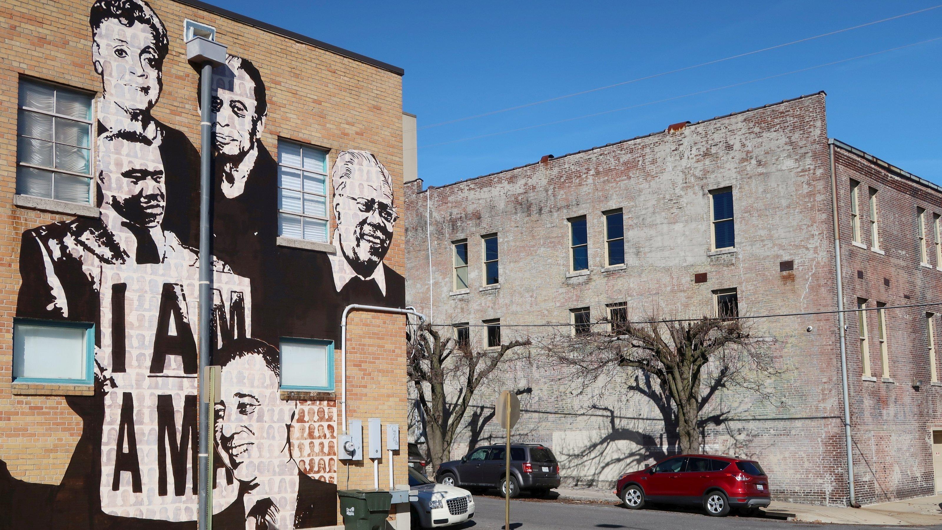 Ein Wandgemälde zeigt Ikonen der amerikanischen Bürgerrechtsbewegung