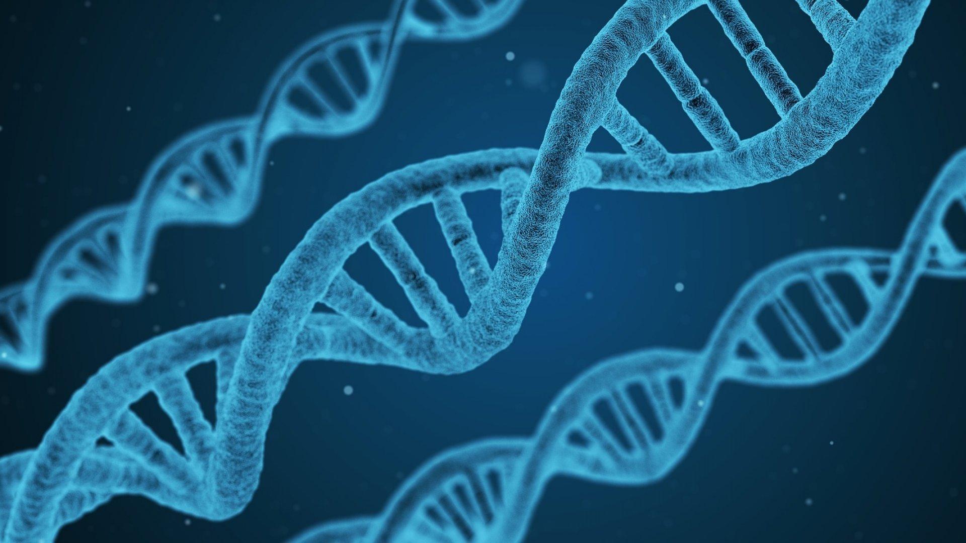 Symbolische Darstellung der Struktur der DNA