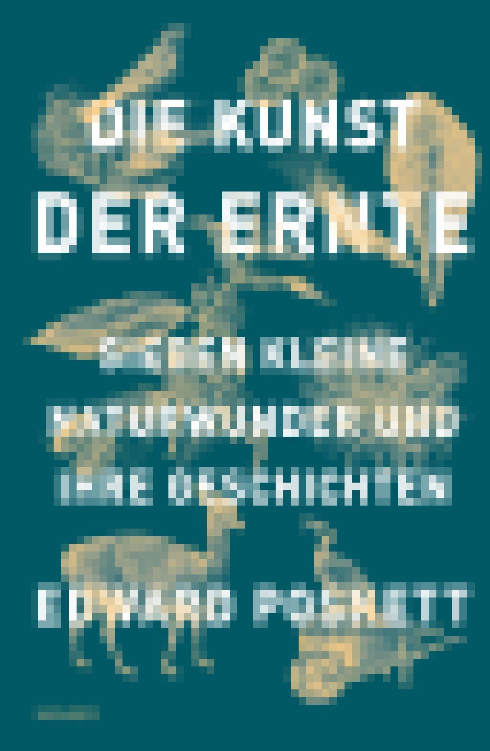 """Auf dem grünen Cover des Buches """"Die Kunst der Ernte – Sieben kleine Naturwunder und ihre Geschichten"""" sind in gelber Farbe gezeichnete Federn, Knöpfe, Tiere und Pflanzen abgebildet"""