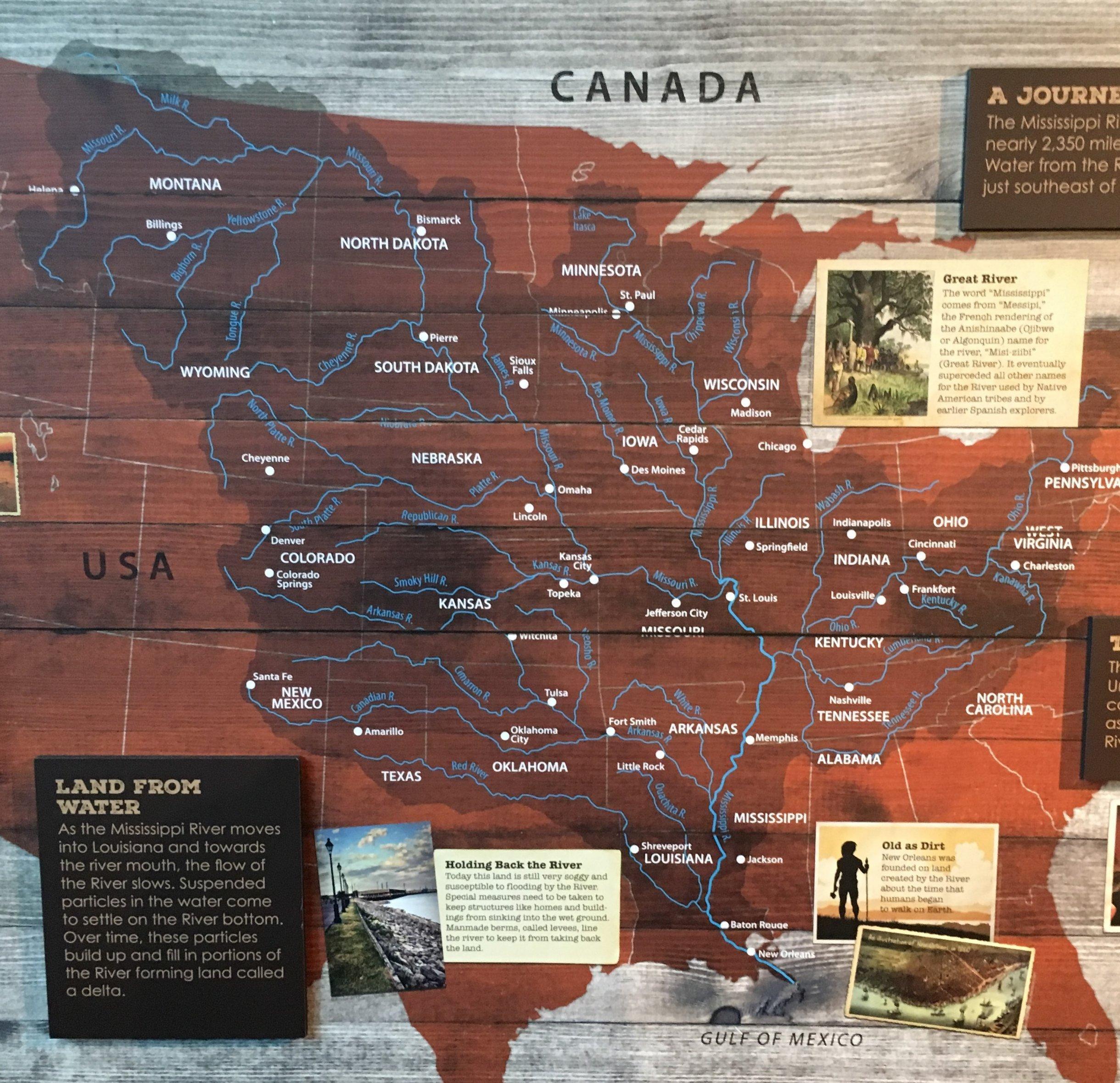 Mächtig, verzweigt und weitläufig, das Gewässernetz in den USA