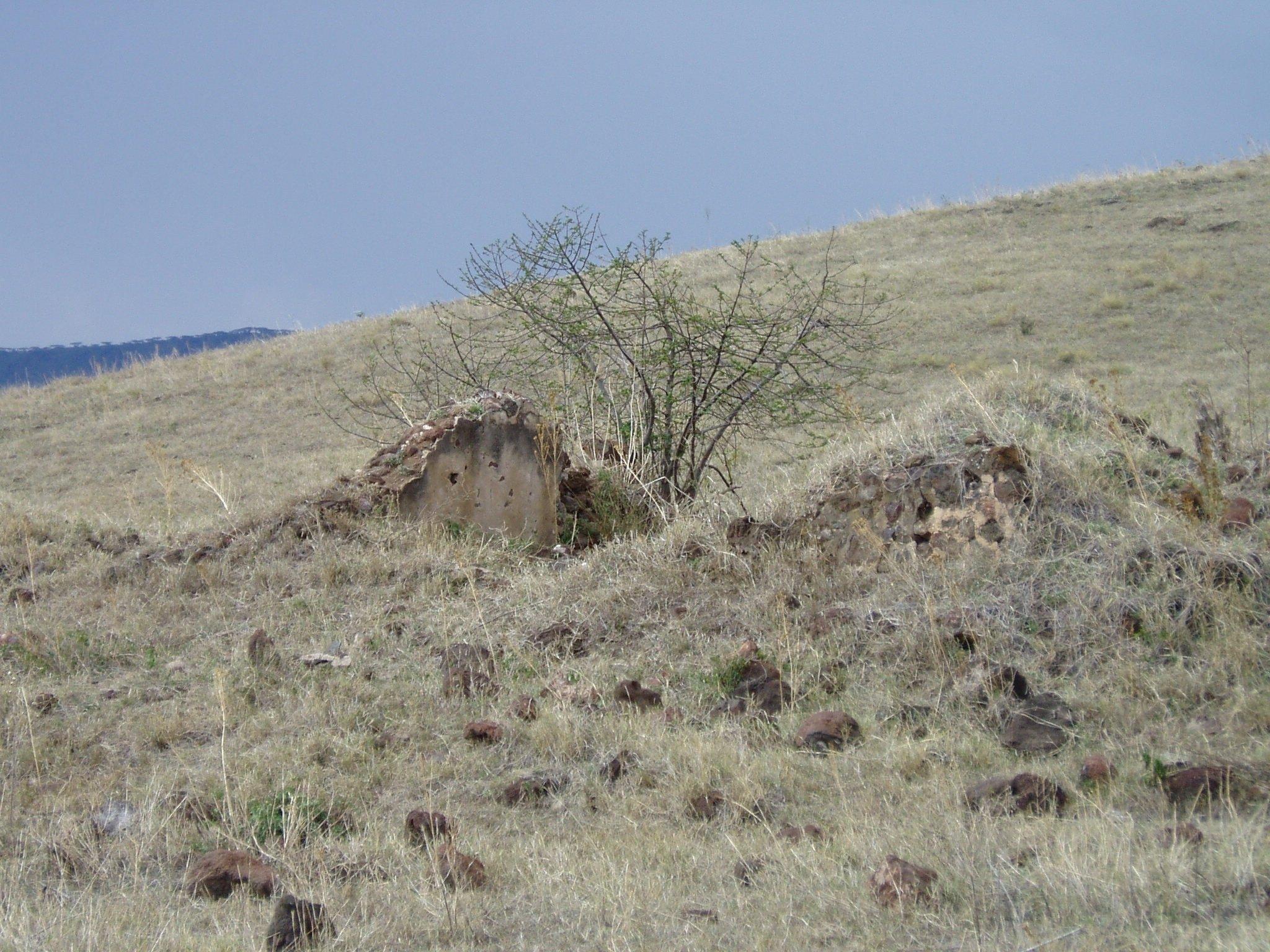 Die Ruine der Farm von Adolf Siedentopf.