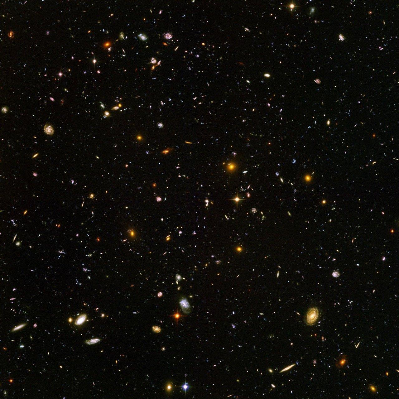Aufnahme von Galaxien.