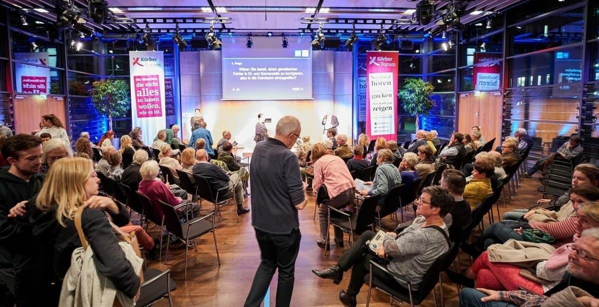 Lebhafte Diskussion über Deisgnerbabys bei der Körber-Stiftung in Hamburg.