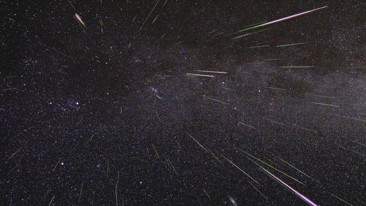 Meteorstrom der Perseiden.
