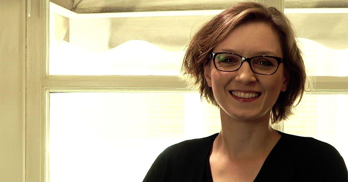 Prof. Lisa Herzog beim Inteview