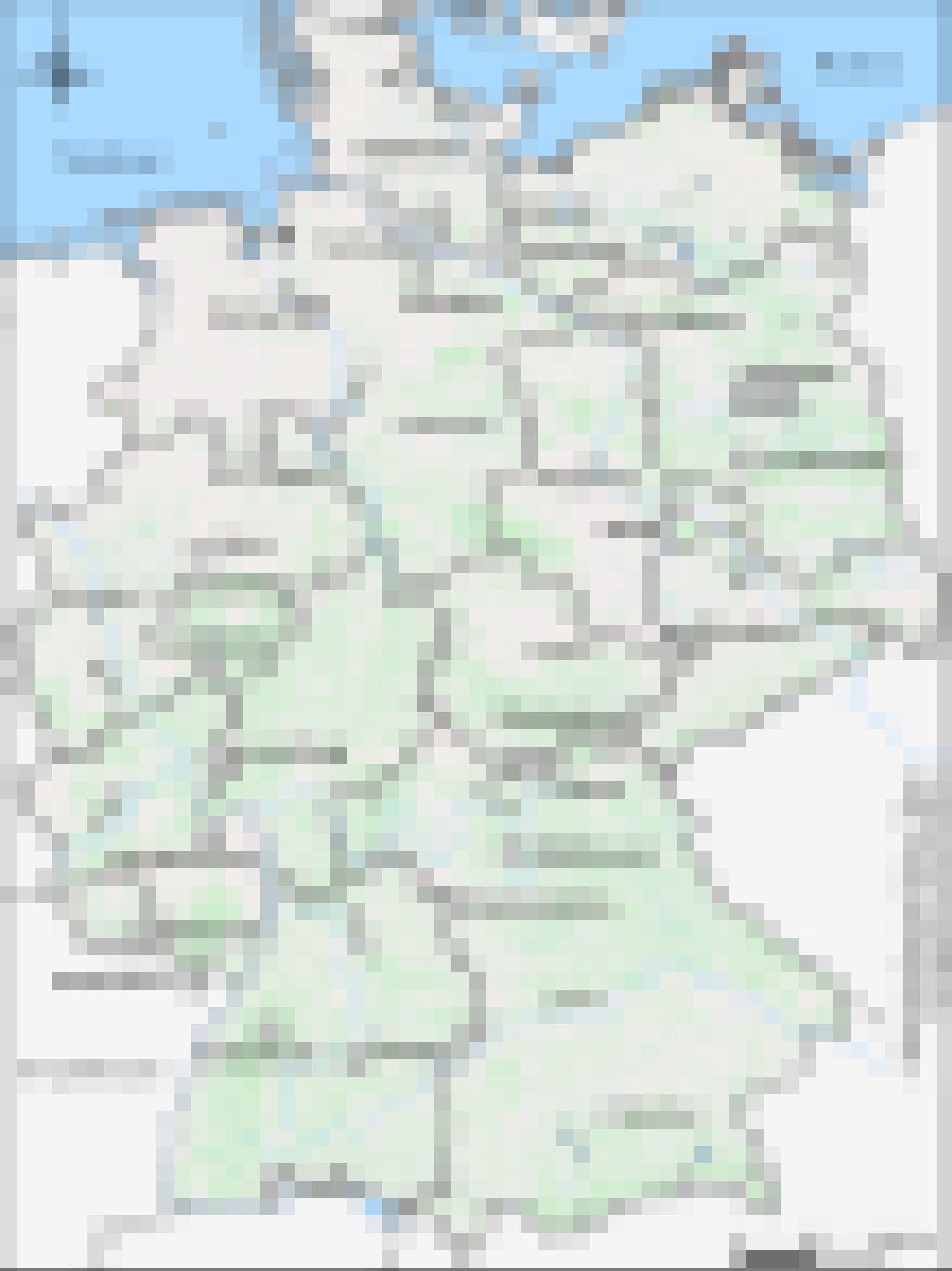 Deutschlandkarte mit 24markierten Übernachtungsstätten.
