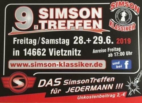 Aufschrift: 28. und 29. Juni 2019in 14662Vietnitz