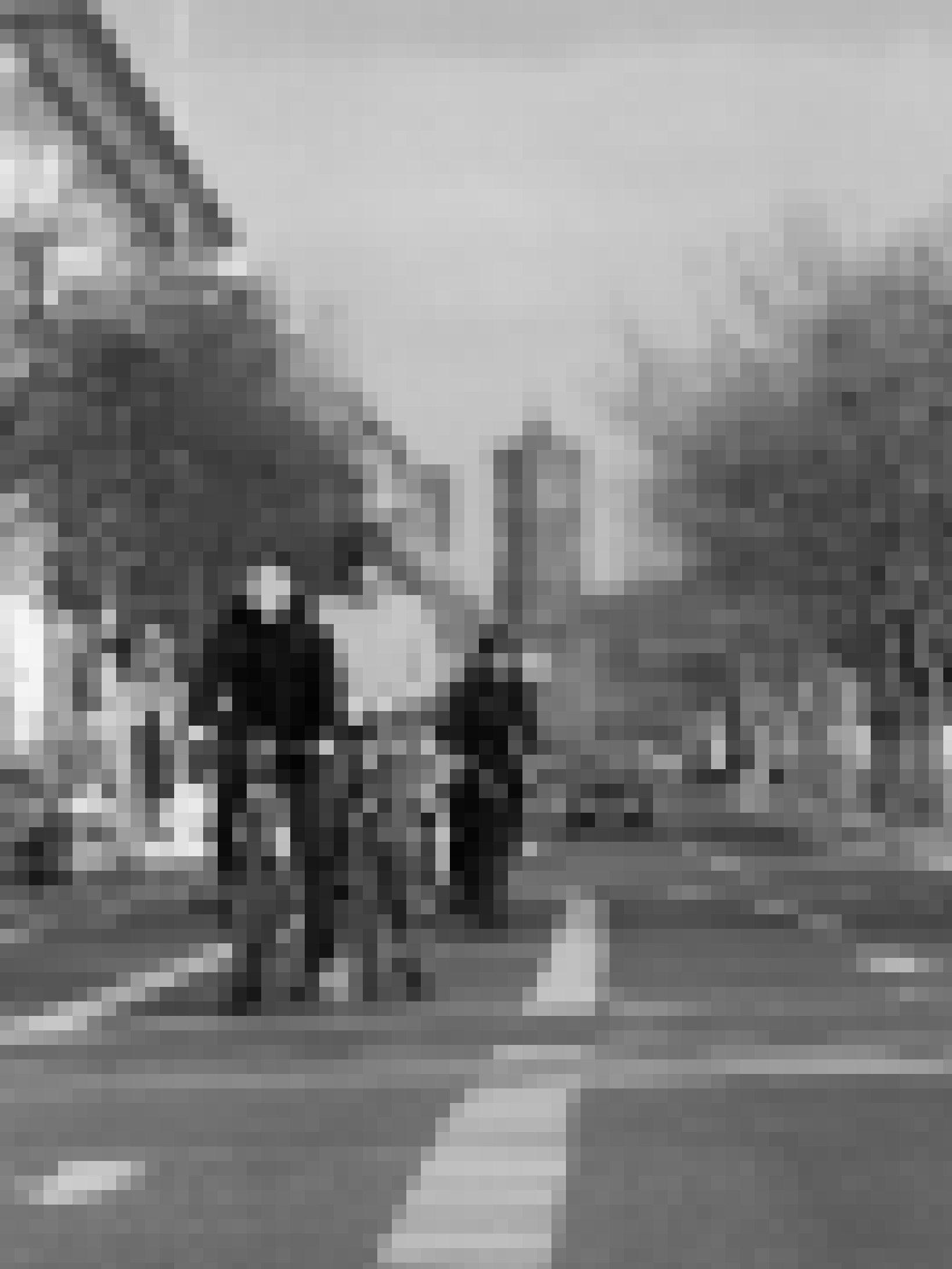 Drei Radfahrer warten an einer Ampel, dahinter ist bis zum Stadtschloss nur ein einziger Pkw zu erkennen.