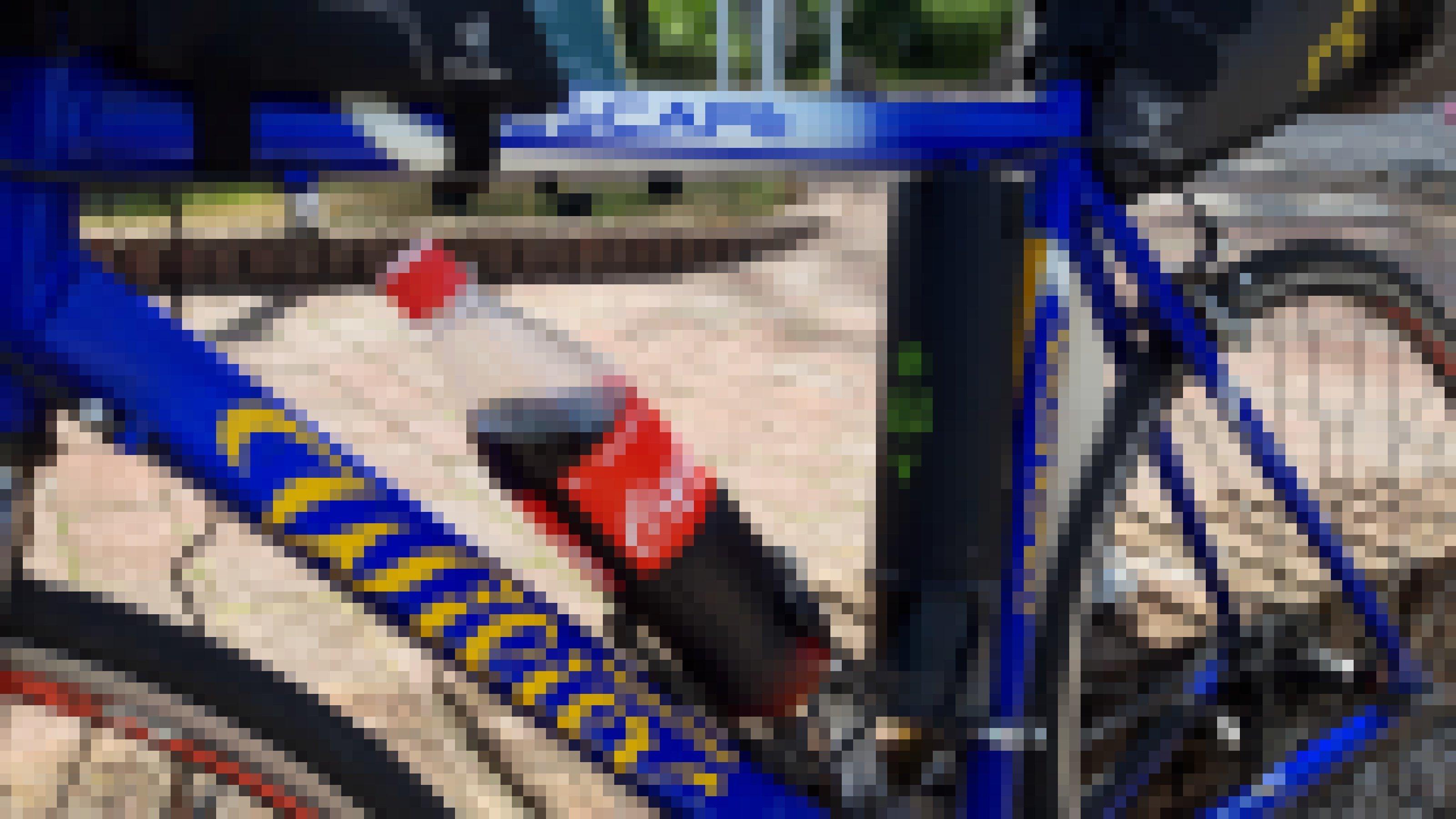 Detailaufnahme des Rennrads.