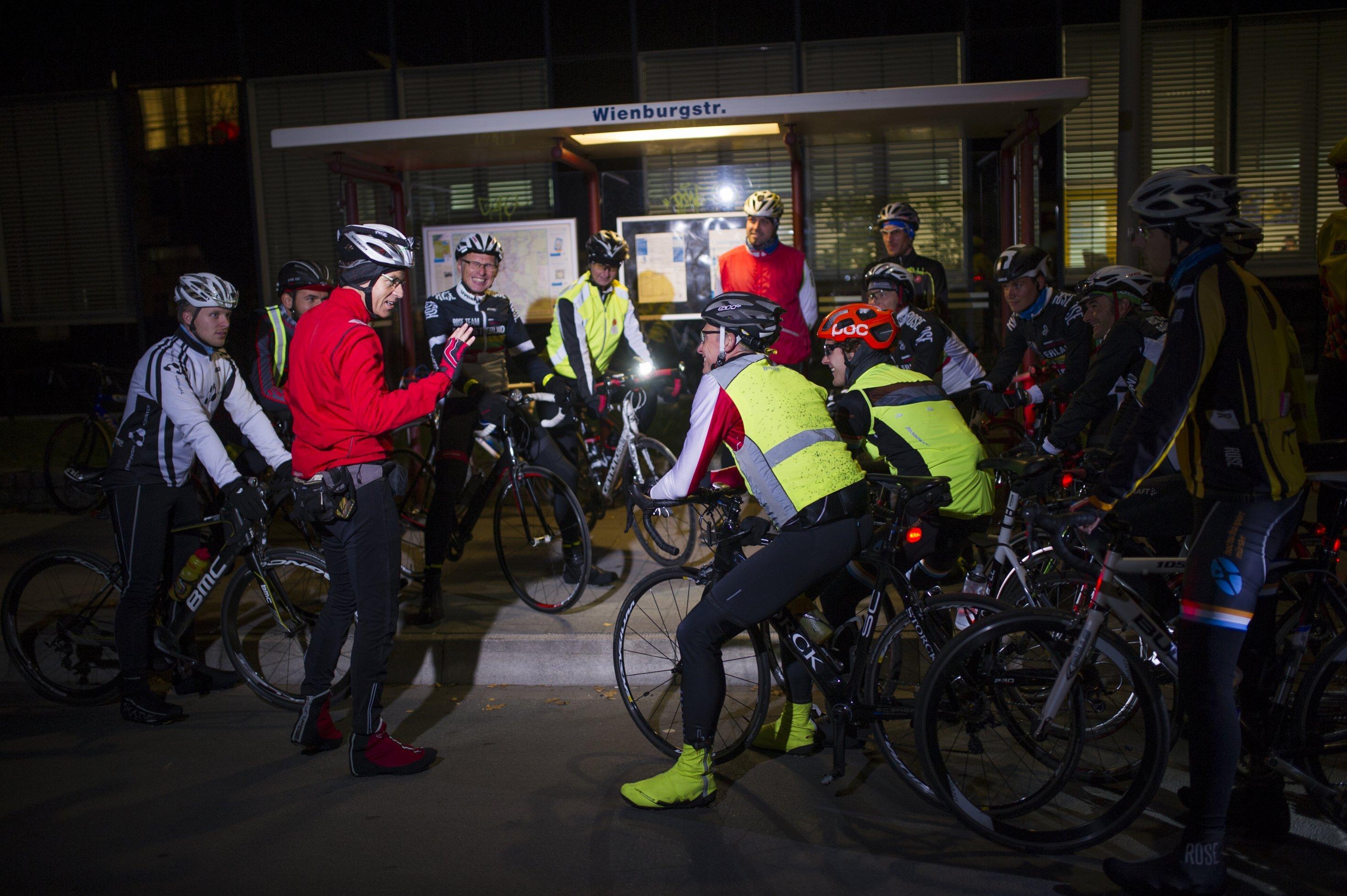 Trainingsgruppe in Münster, vor dem Start.