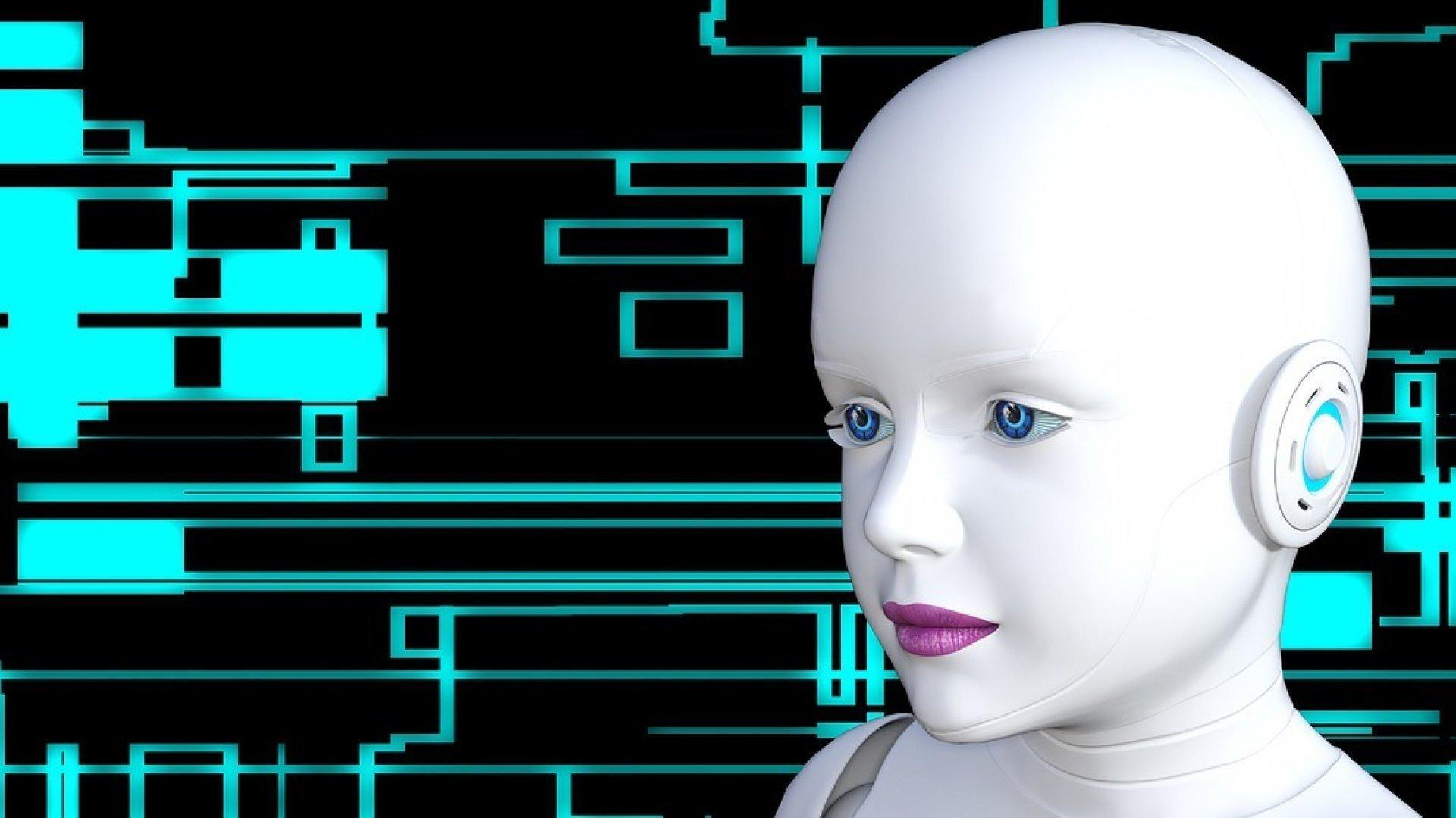 """Ein Roboter mit Kindchenschema als Symbol für eine """"gute"""" künstliche Intelligenz"""