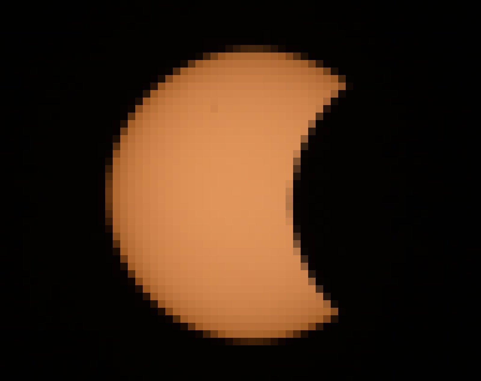 Die Sonne bei der partiellen Sonnenfinsternis vom 20. März 2015, zu etwa 12Prozent bedeckt.