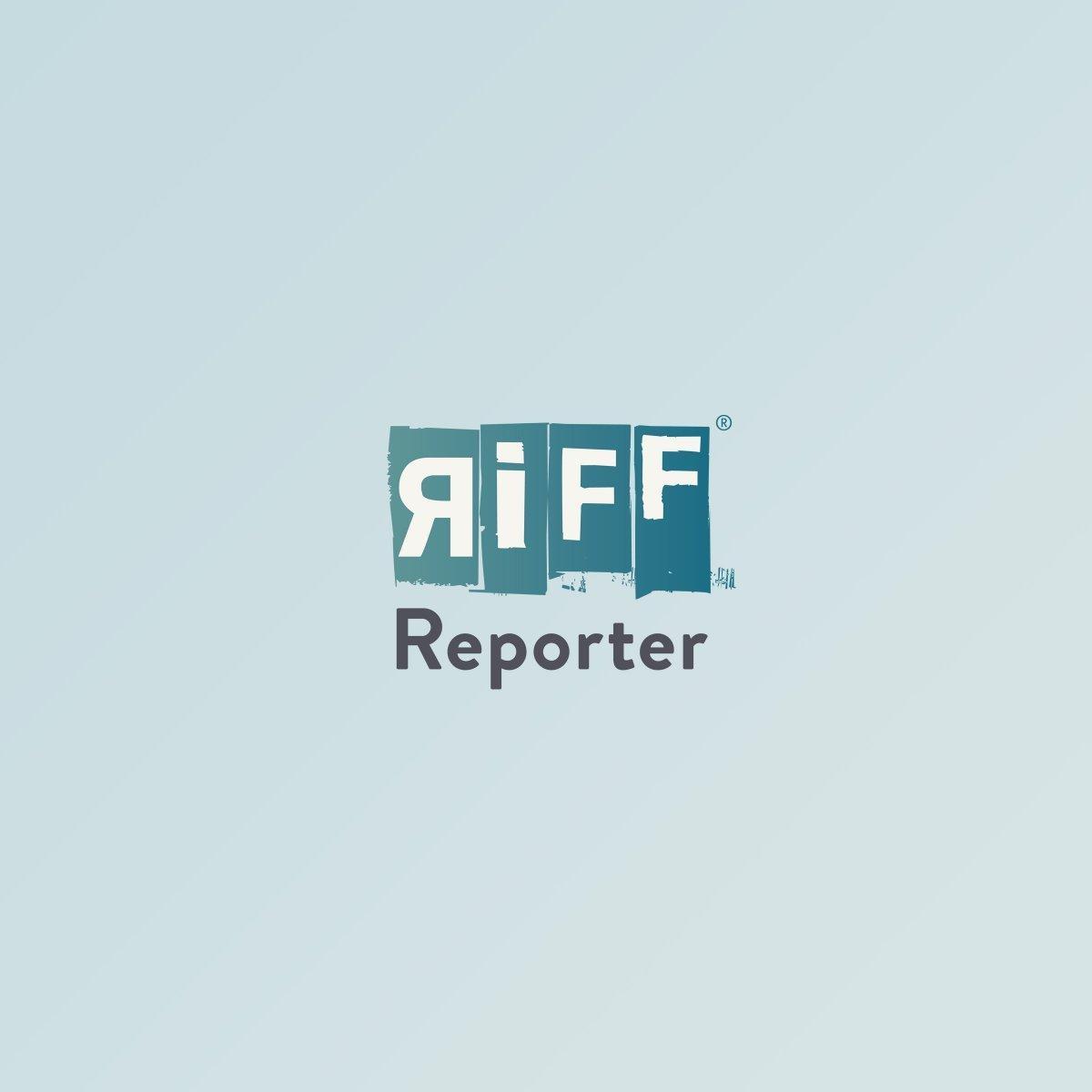 Gran Via in Madrid bei Einbruch der Dämmerung