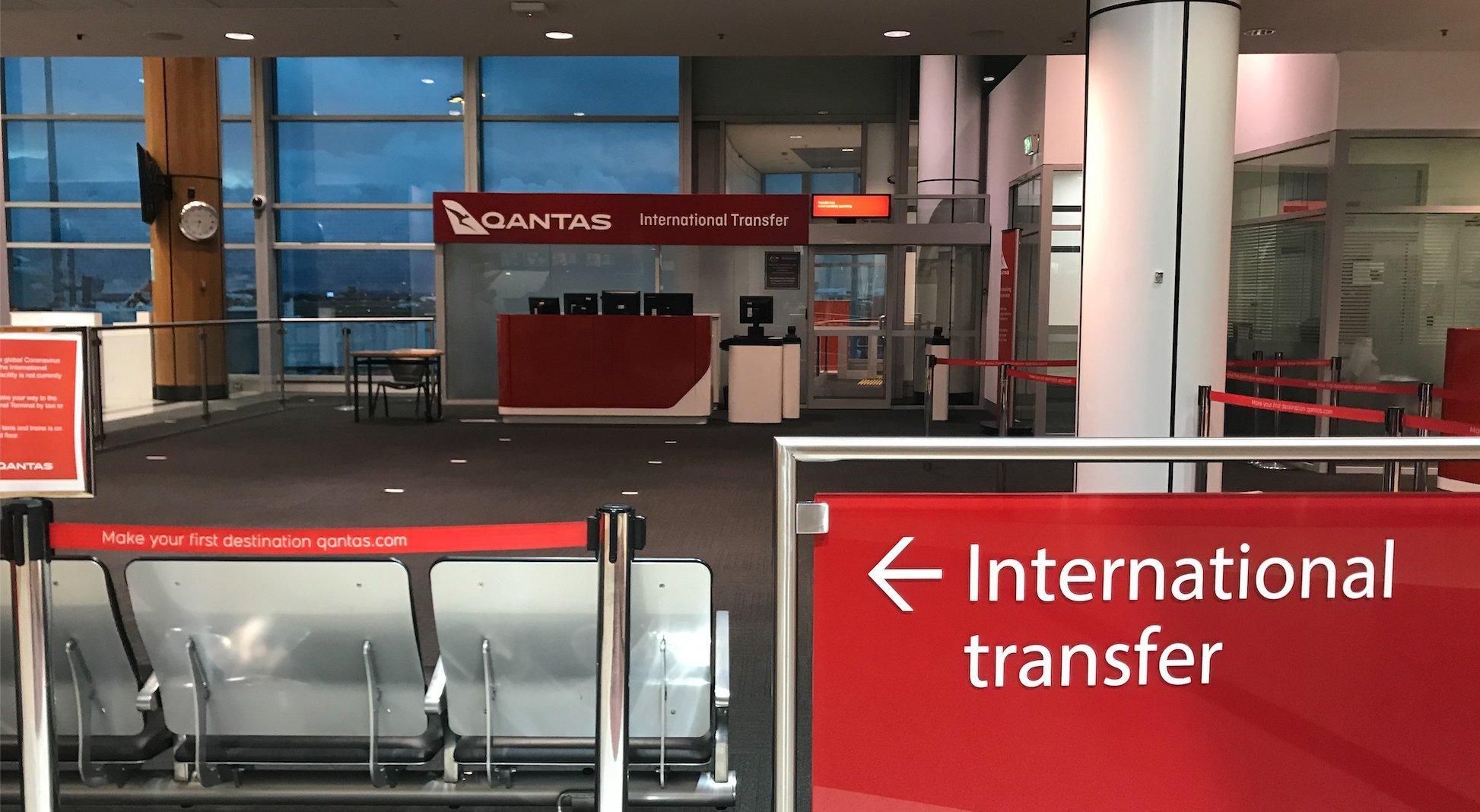 Ein menschenleeres Gate am Kingsford Smith Airport in Sydney. Der internationale Transfer-Schalter am Flughafen in Sydney ist seit über 16Monaten verwaist.