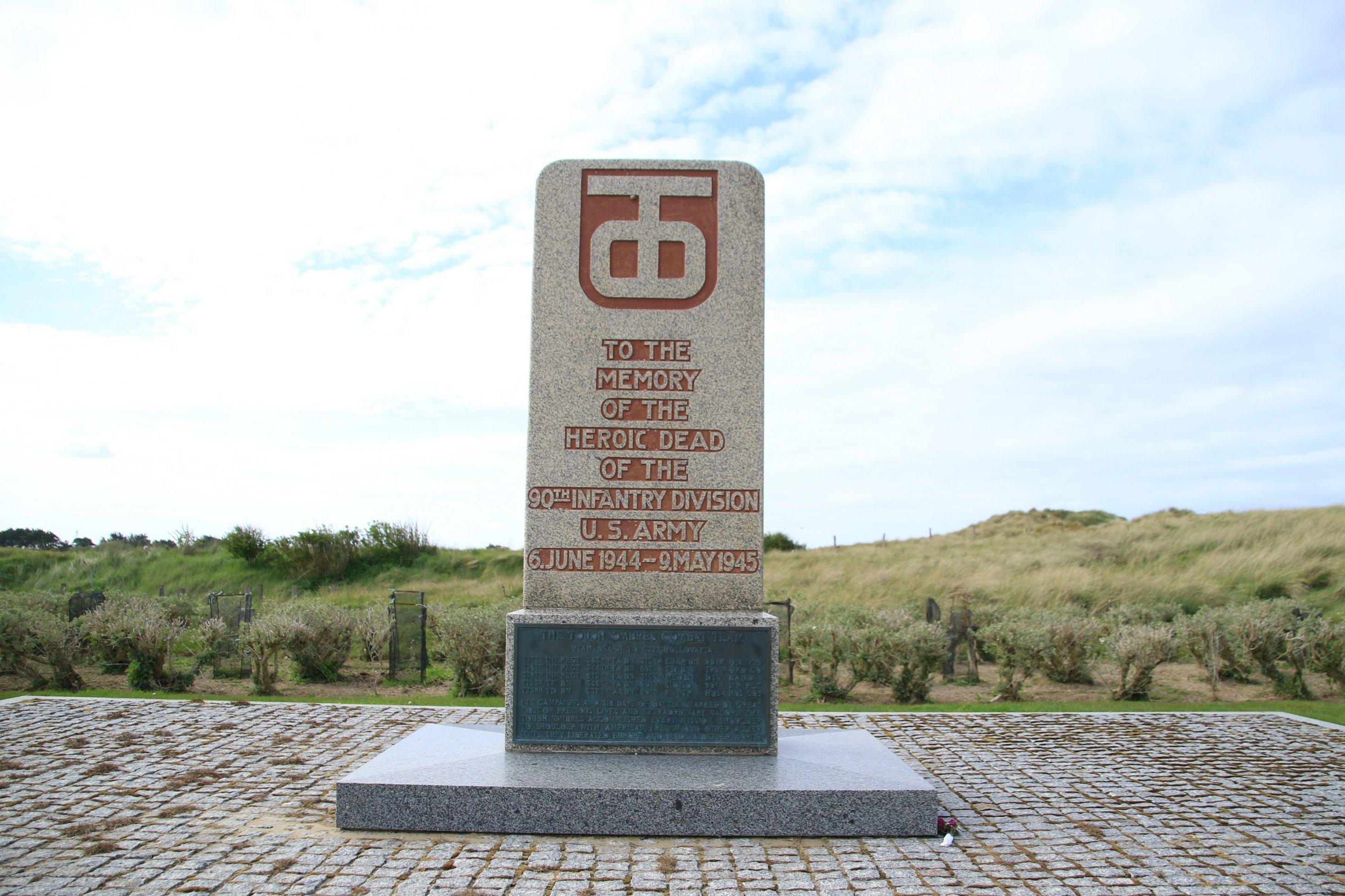 Ein Gedenkstein für die US-Armee 1944bis 1945