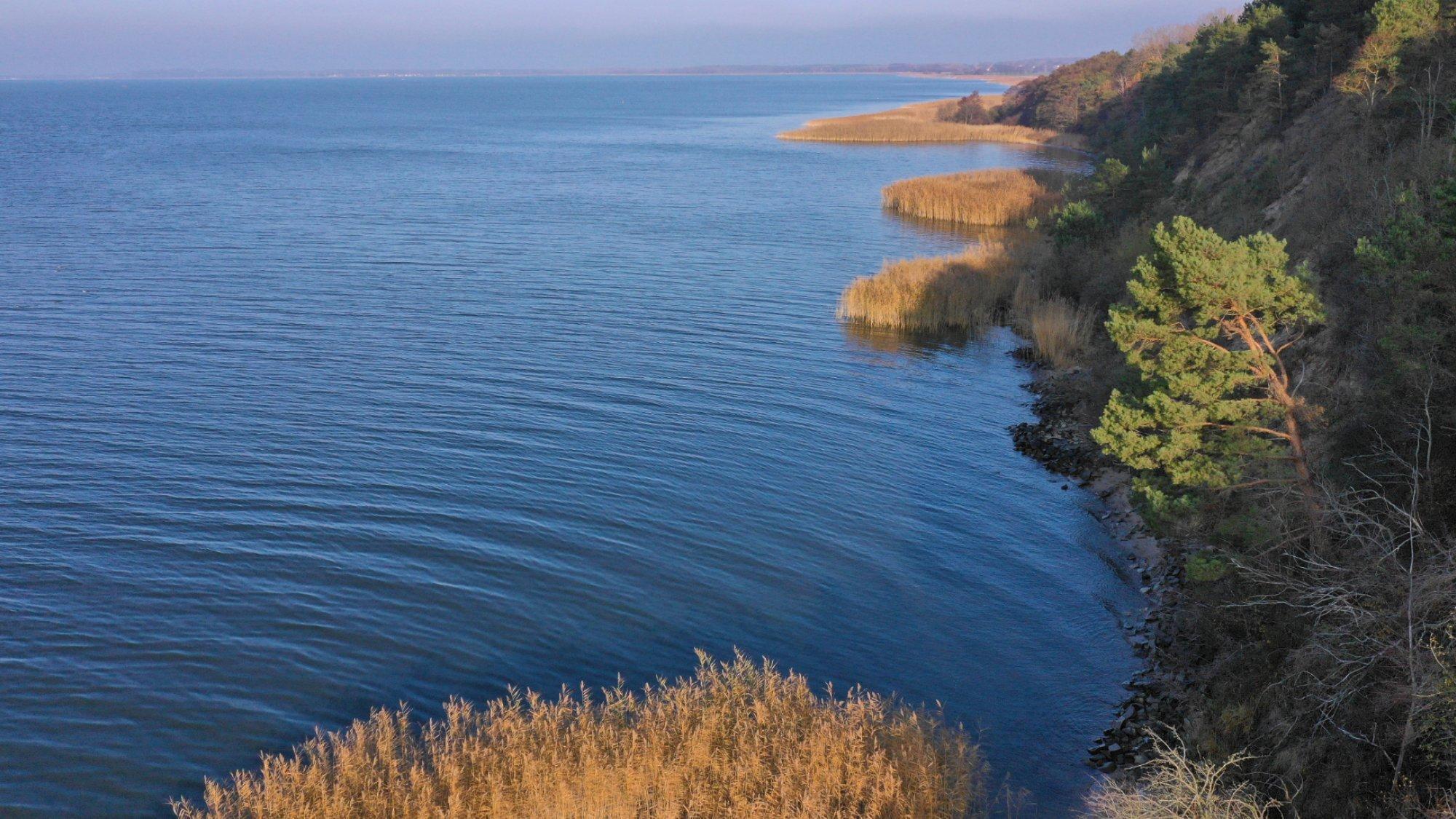 Blick über das Achterwasser auf Usedom