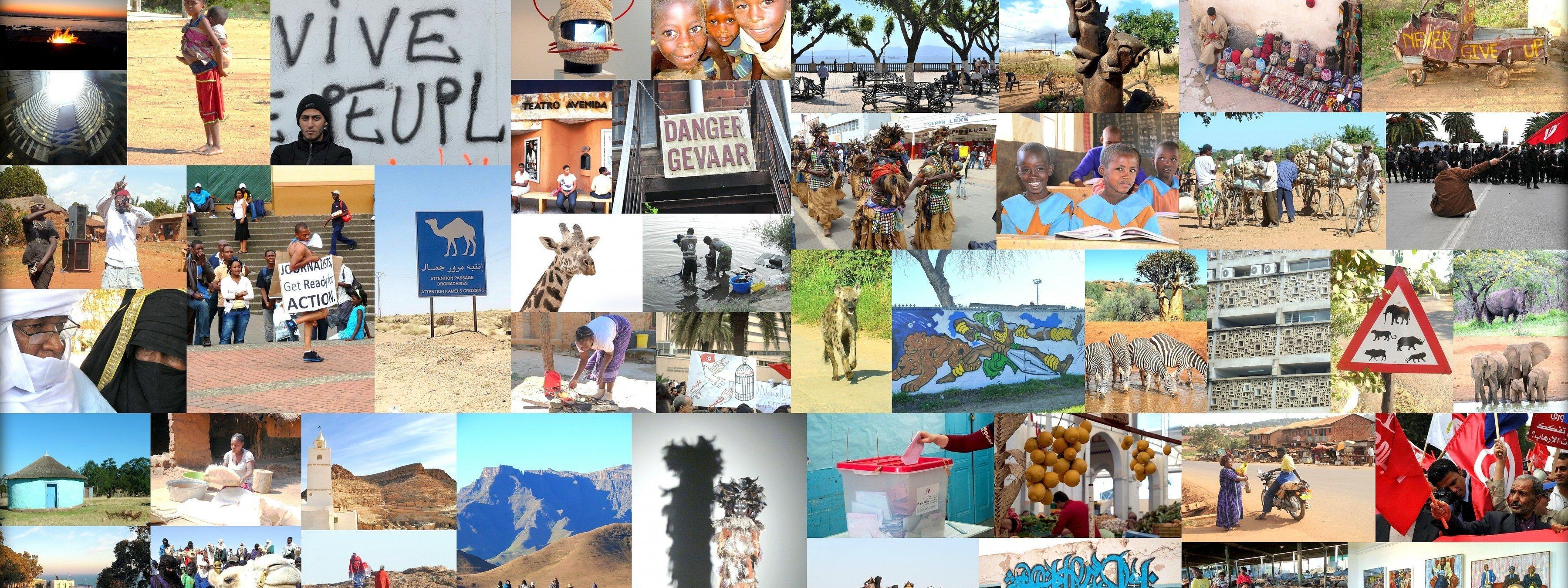 Eine Fotocollage, die die Vielfalt Afrikas widerspiegelt