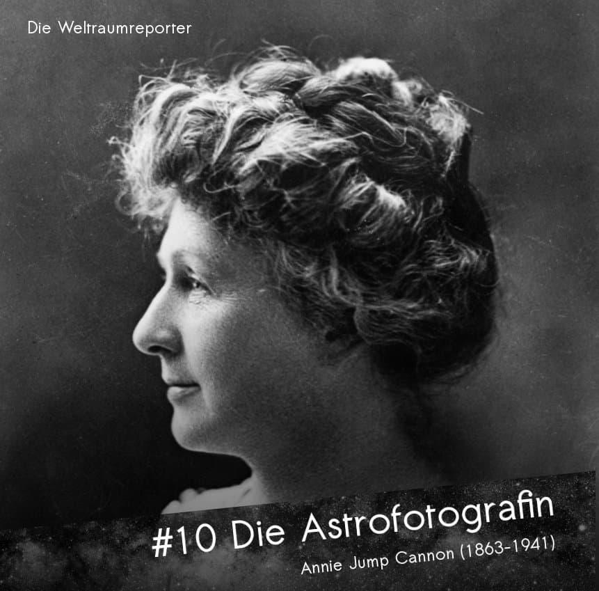 Fotografie, die eine Frau im Profil zeigt: weiche Züge, hochgesteckte Haare, die Astrofotografin Anni Jump Cannon