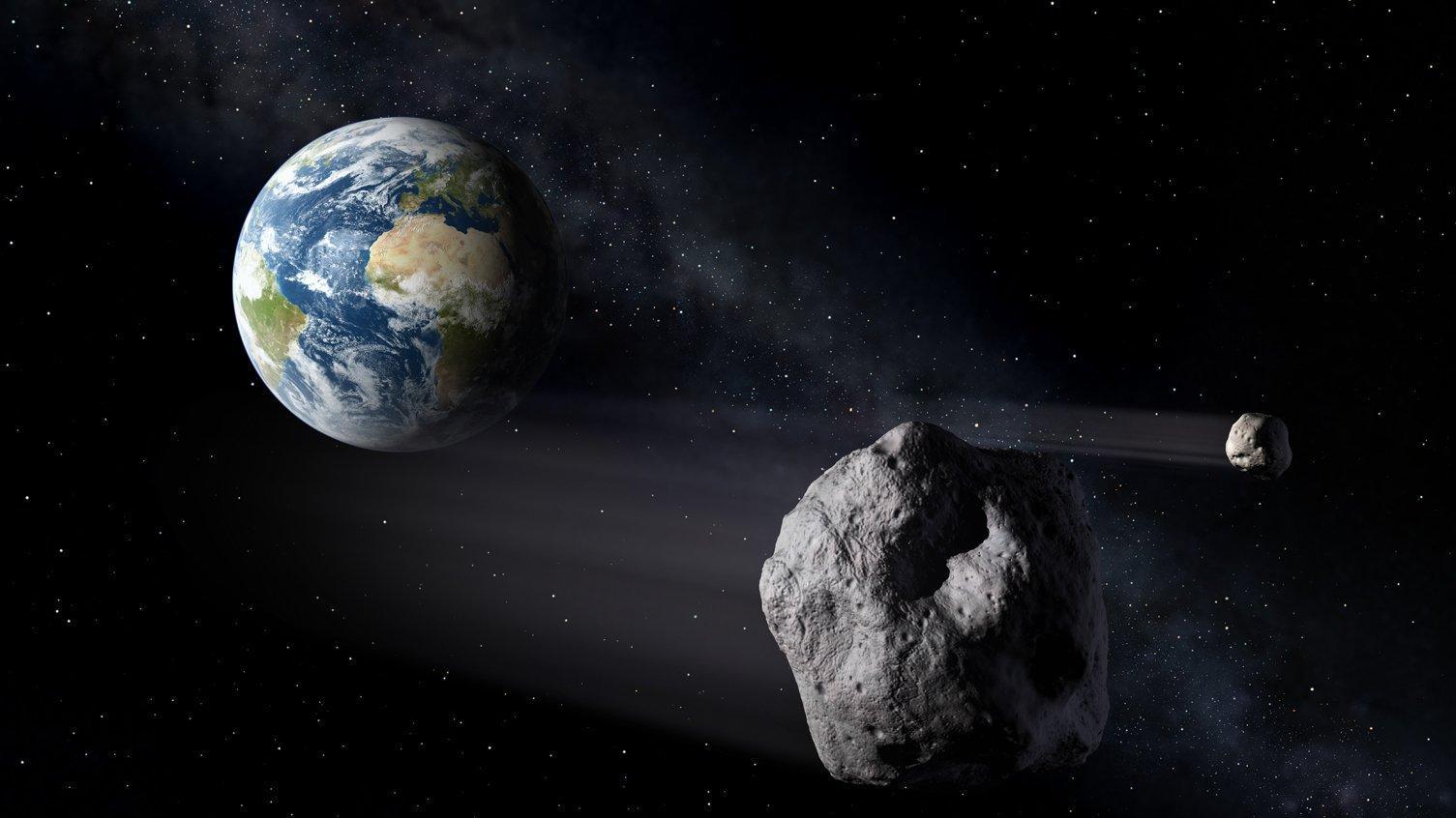 Bahnen der Asteroiden im Sonnensystem.