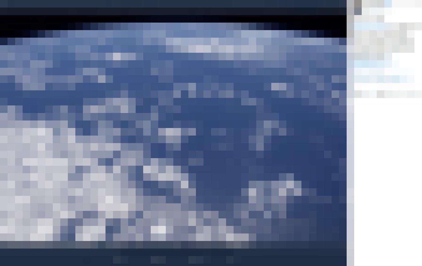 """Zu sehen auf diesem Bild ist ein endlos erscheinendes Meer. Die Meeresbiologin und Astronautin Jessica Meir schreibt dazu in ihrem Tweet vom 9. Juni 2020: """"Aus unserer Sicht @Space_Station ist es klar, dass unser Planet wirklich ein blauer Planet ist. Erinnern wir uns daran und tun wir unser Bestes, um uns um die Ozeane unseres Planeten zu kümmern."""""""