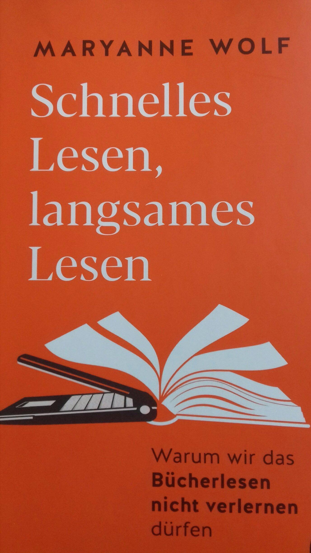 "Cover der Buches ""Schnelles Lesen, langsames Lesen""."