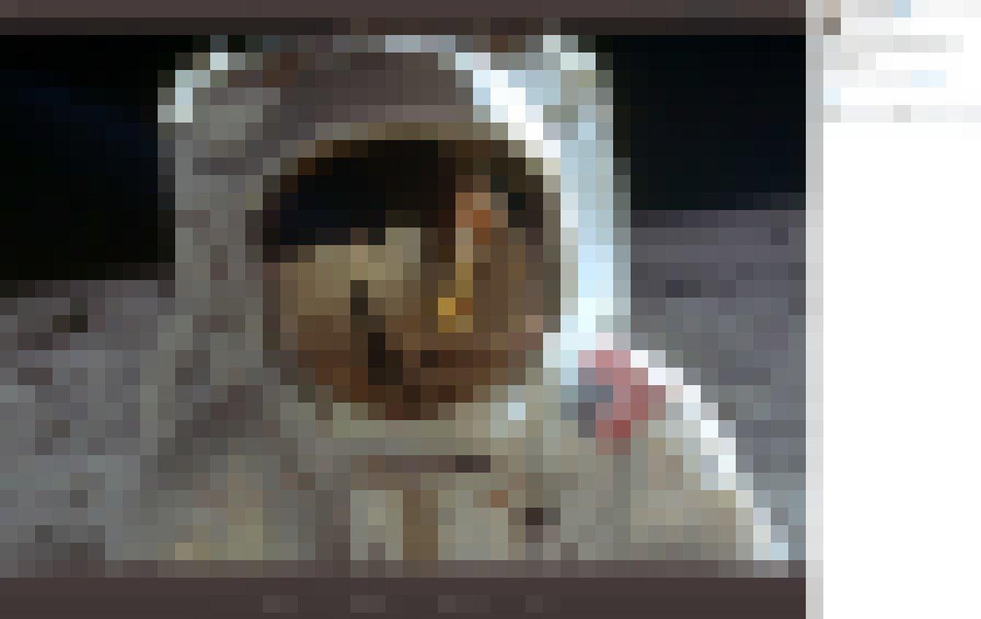 Buzz Aldrin, 1969fotografiert von Neil Armstrong auf dem Mond. We came in peace for all mankind.