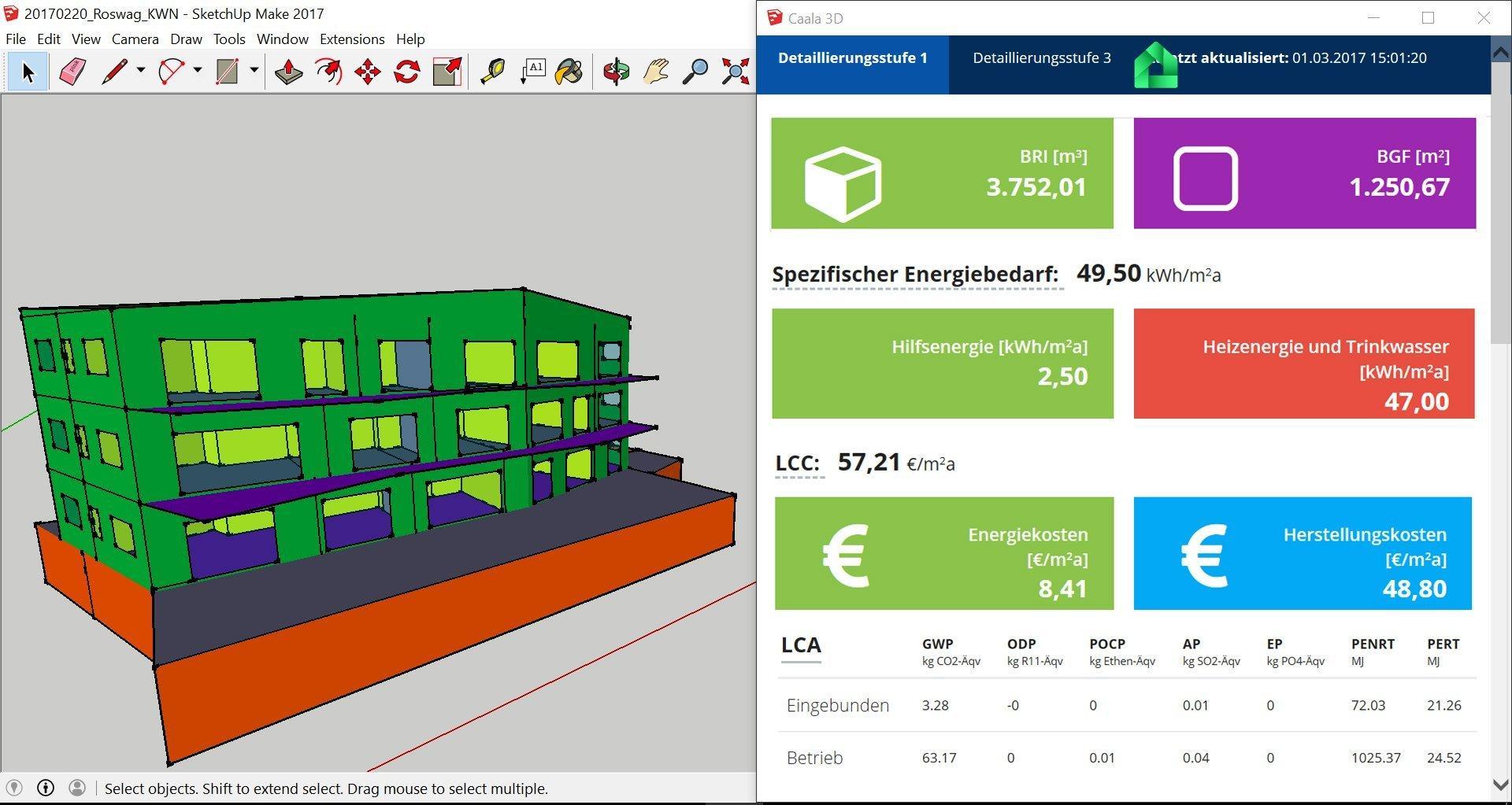 Screenshot der CAALA Software