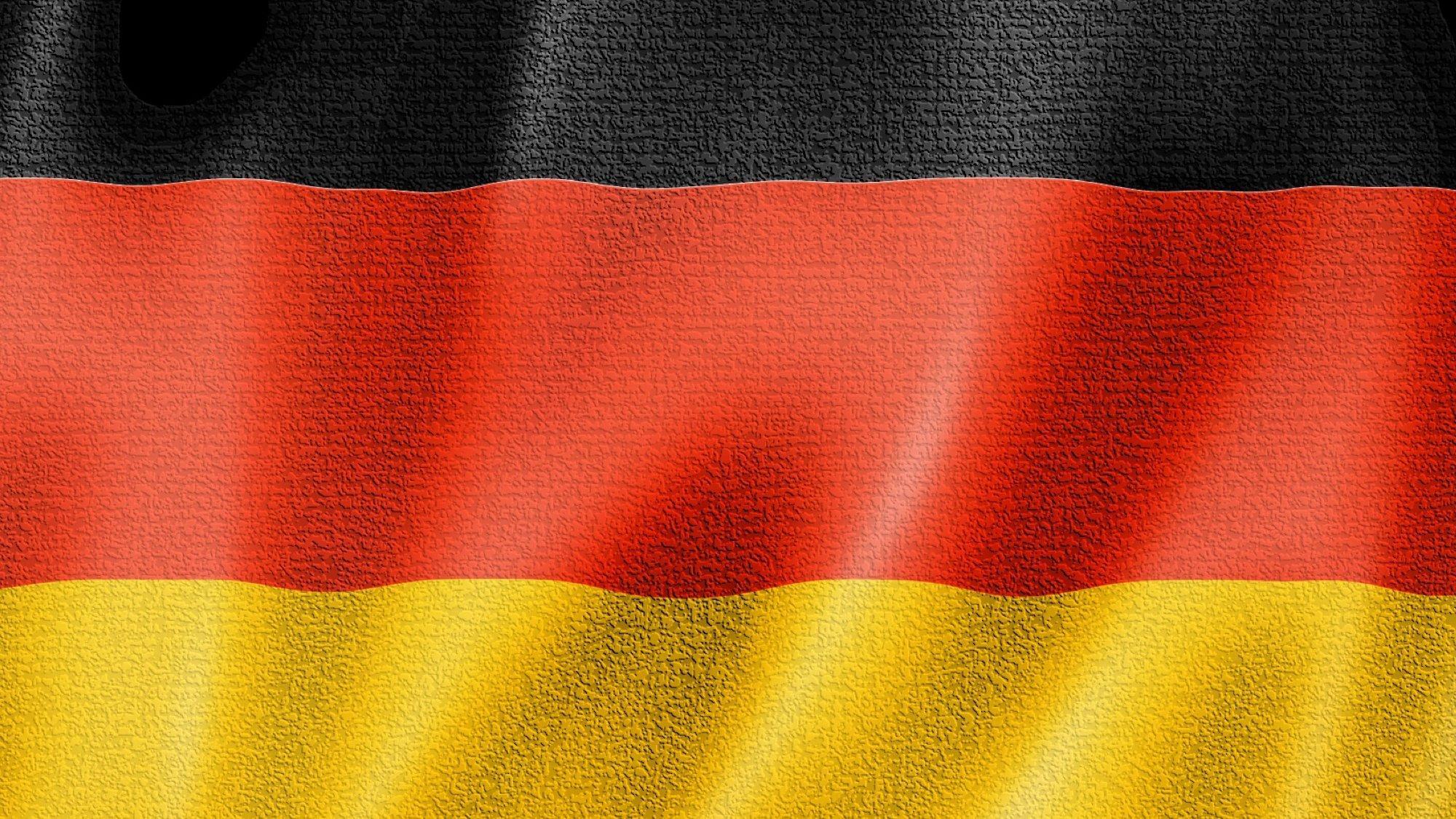 Deutschlandfahne (verfremdet, Symbolbild)
