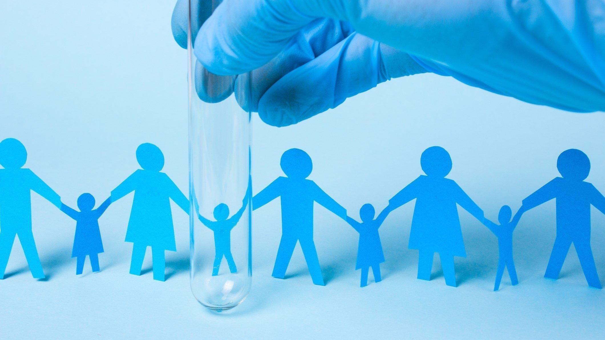 Symbolbild: Eltern haben ihr Kind vor der Geburt genetisch verändern lassen.