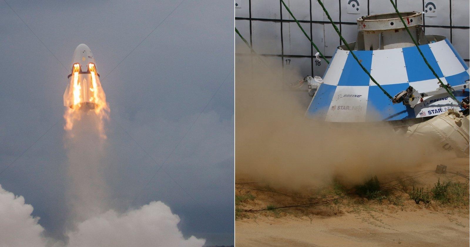 Dragon 2testet ihr Flugabbruchsystem, Test der Airbags beim CST Starliner