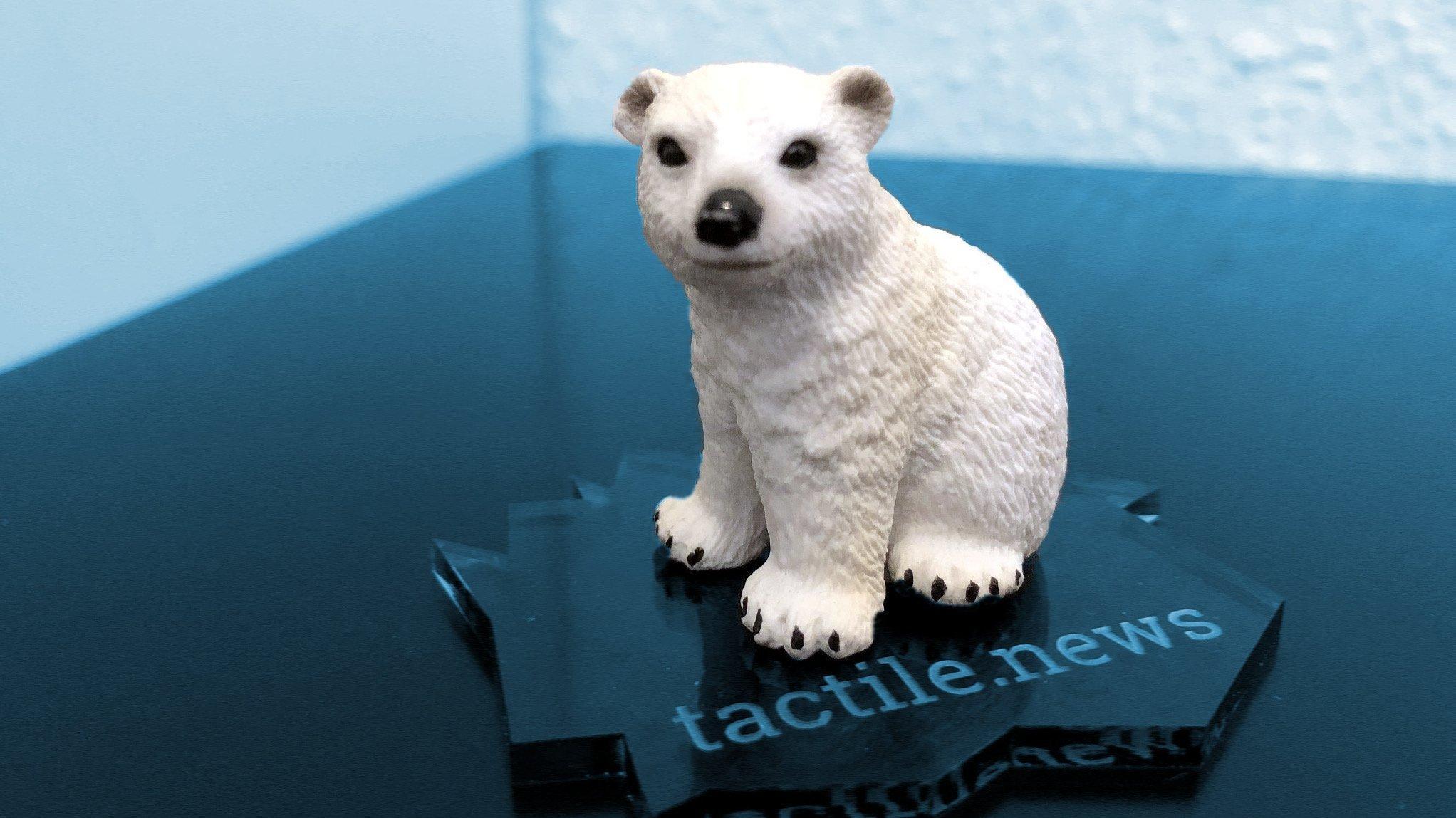 Eisbär vernetztes Spielzeug über Klimawandel