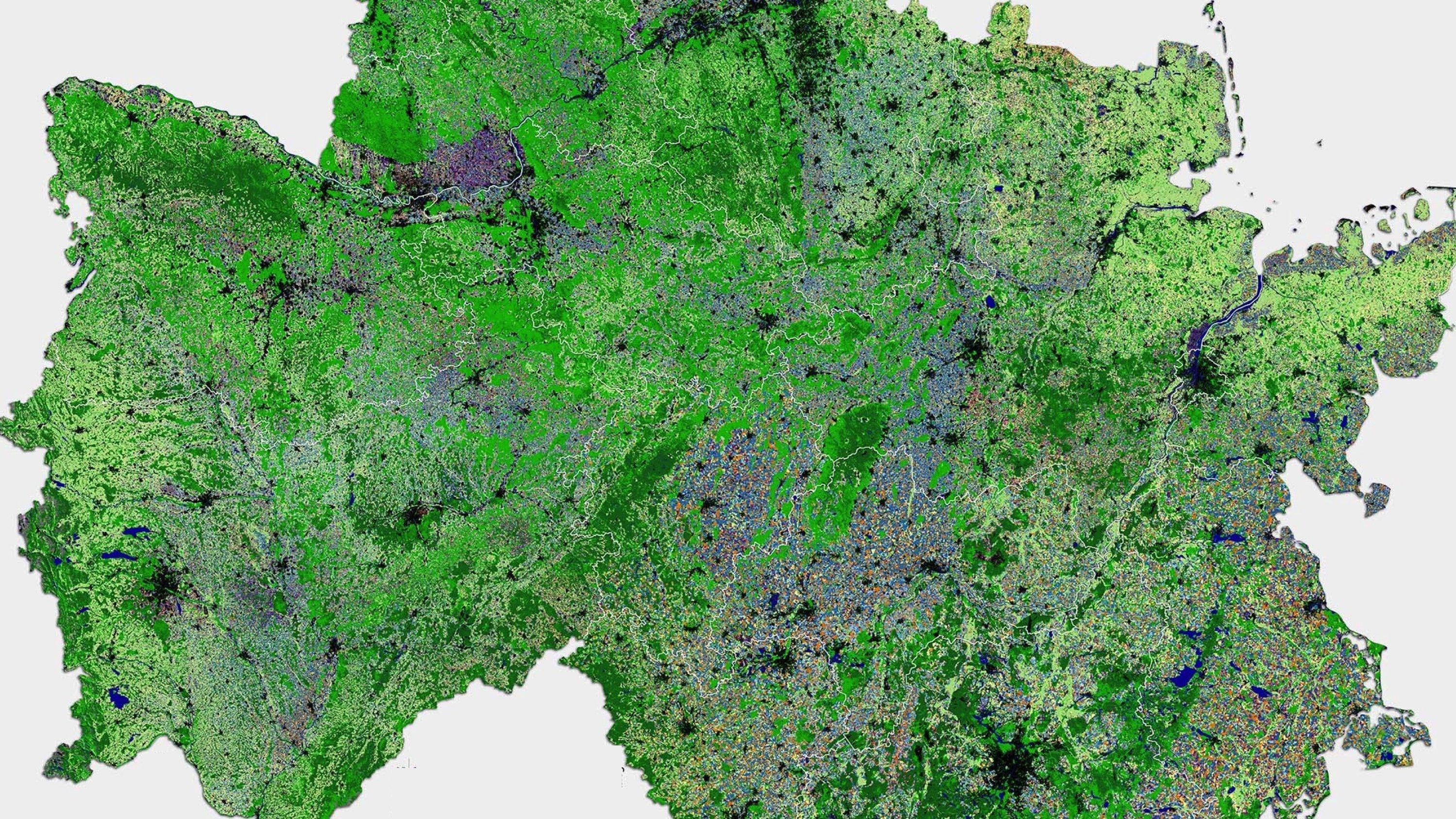 Deutschlandkarte im Querformat