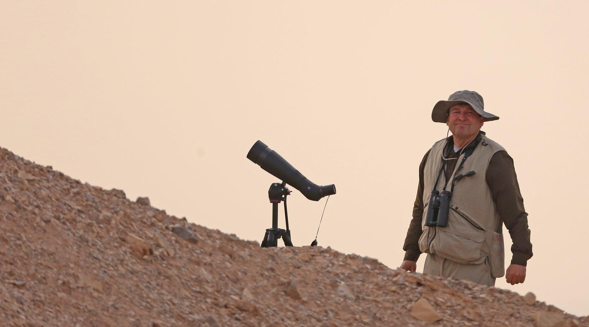 Gerold Dobler in der israelischen Wüste