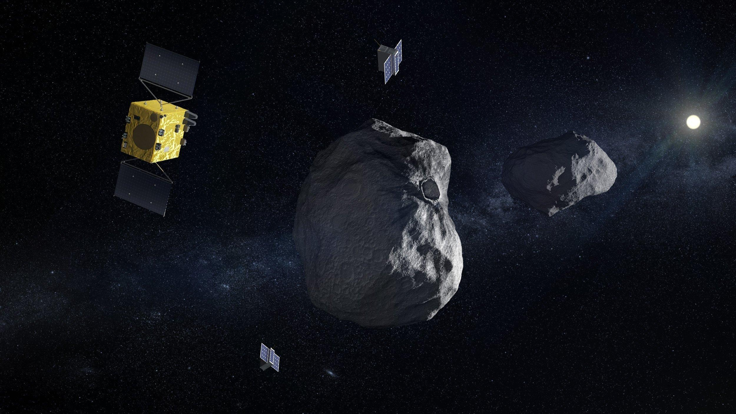 Zwei Minisatelliten