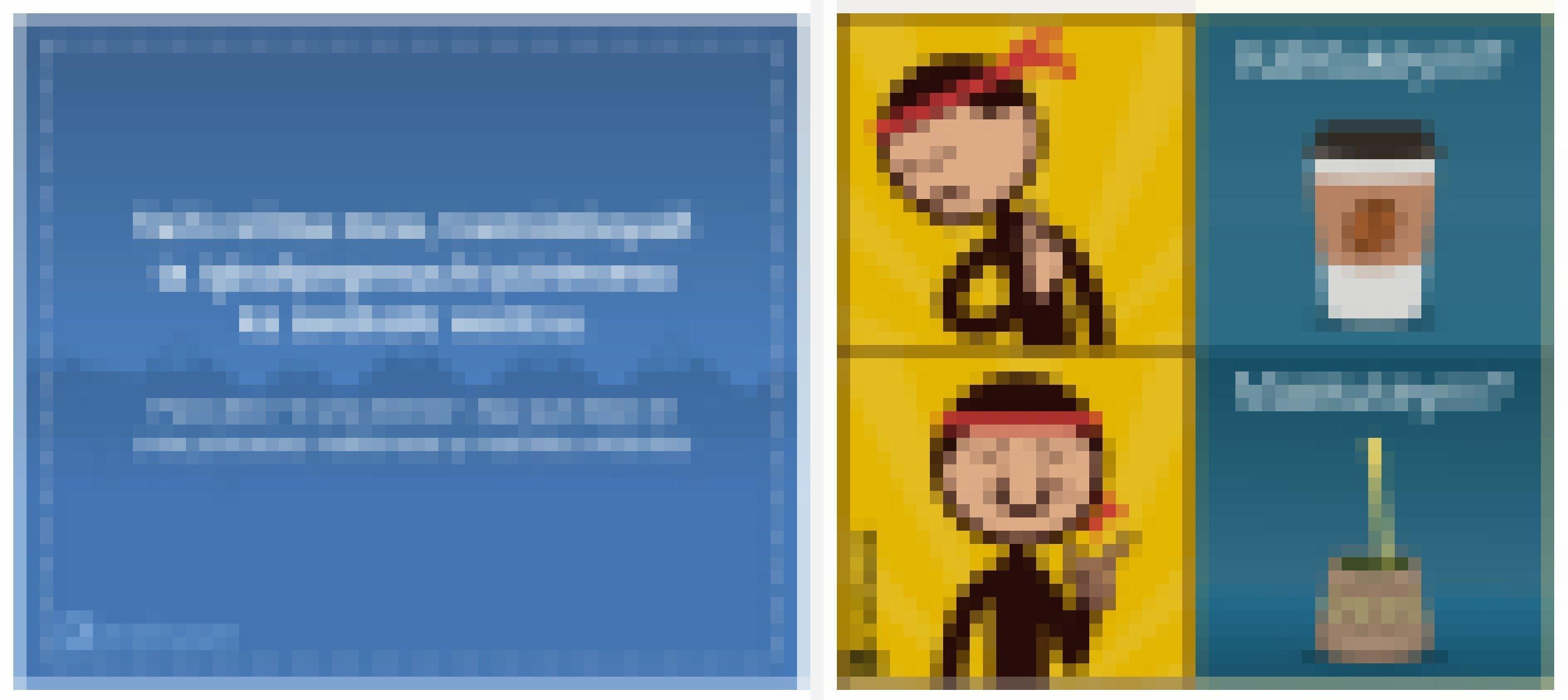 Zwei Bildchen der Internetplattform Kimeltuwe. Eines spielt auf die feministische Bewegung in Chile an und das andere zeigt die Mapuche als Mate-Tee-Trinker.