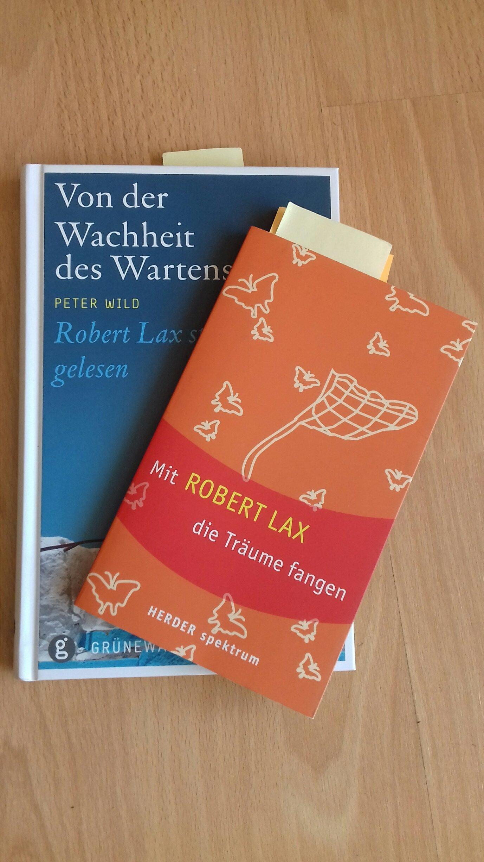 Titel zweier Bücher über Robert Lax