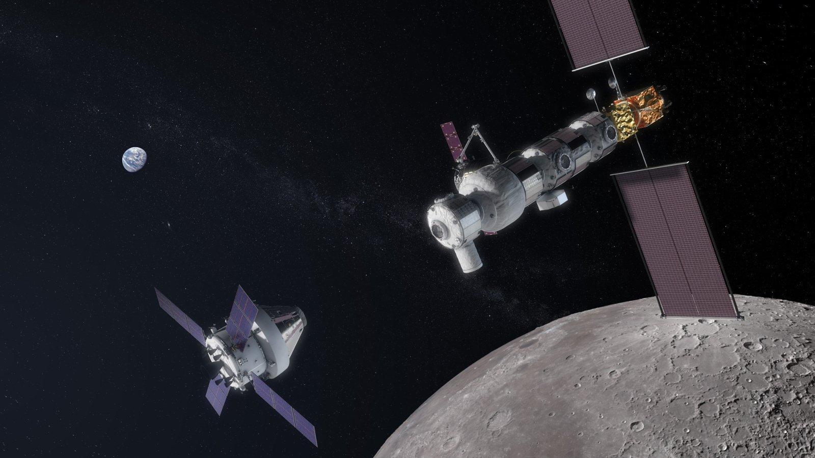 Lunar Orbital Platform-Gateway, Rendezvous mit einem Orion-Raumschiff im Mondorbit