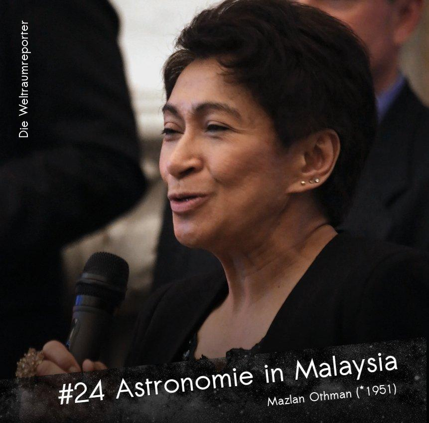Mazlan Othman spricht in ein Mikrofon, darunter: Astronomie in Malaysia