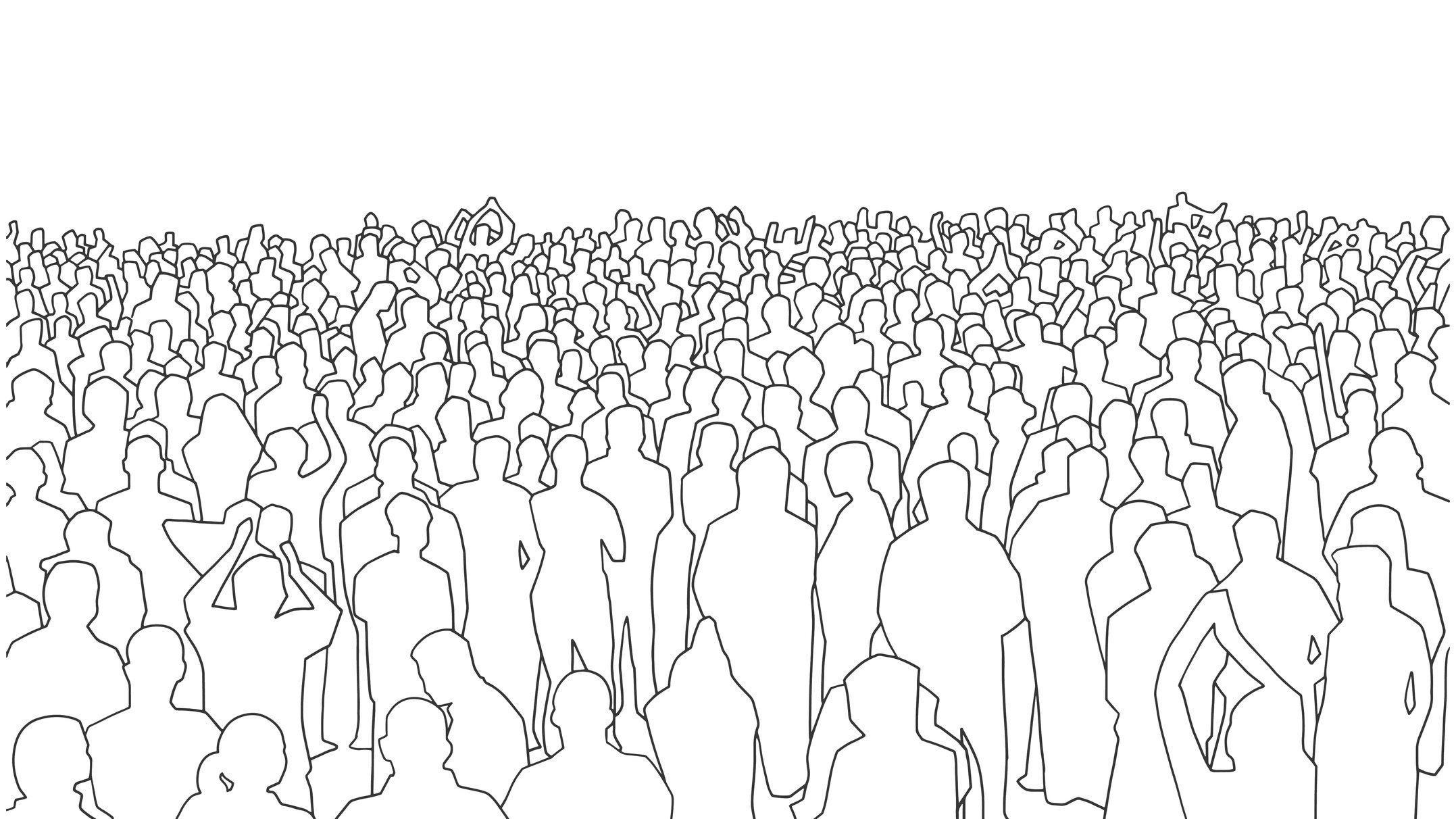 Symbolische Darstellung eine Menschenmenge