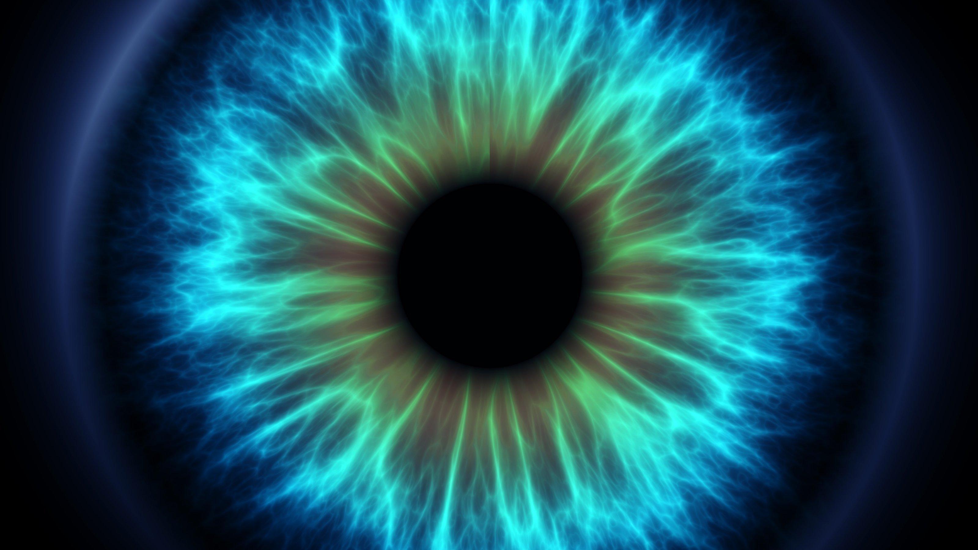 Ein menschliches Auge in Nahaufnahme, grafisch bearbeitet.