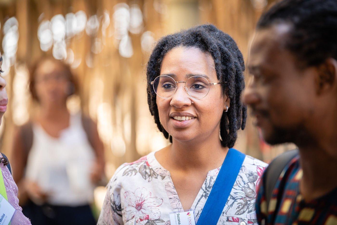 Portraetfoto von Suzana Sousa bei den Museumsgesprächen
