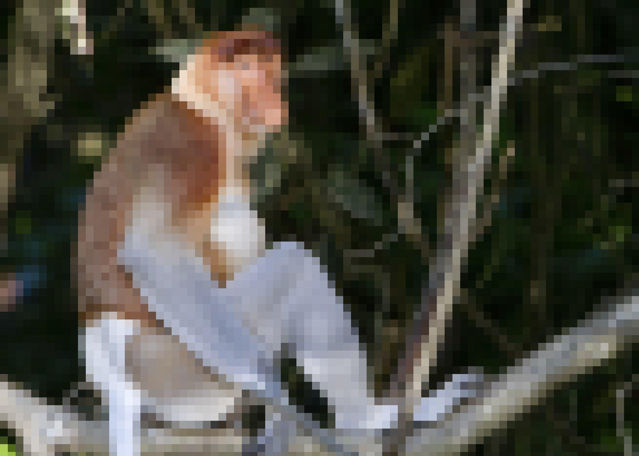 Das Foto zeigt einen Nasenaffen mit seinem seltsamen, riesigen Riechorgan, der auf einem Ast im Regenwald Borneos sitzt und sein mächtiges Bein angewinkelt hat, den Fuß auf dem Holz abstützt. Die meisten Affen haben längere Beine als Arme, und können daher kraftvoll von Ast zu Ast springen. Im Sitzen haben sie die Hände frei, die sie dann häufig nutzen, um mit ihnen Dinge zu ergreifen, etwa Blätter oder Früchte.