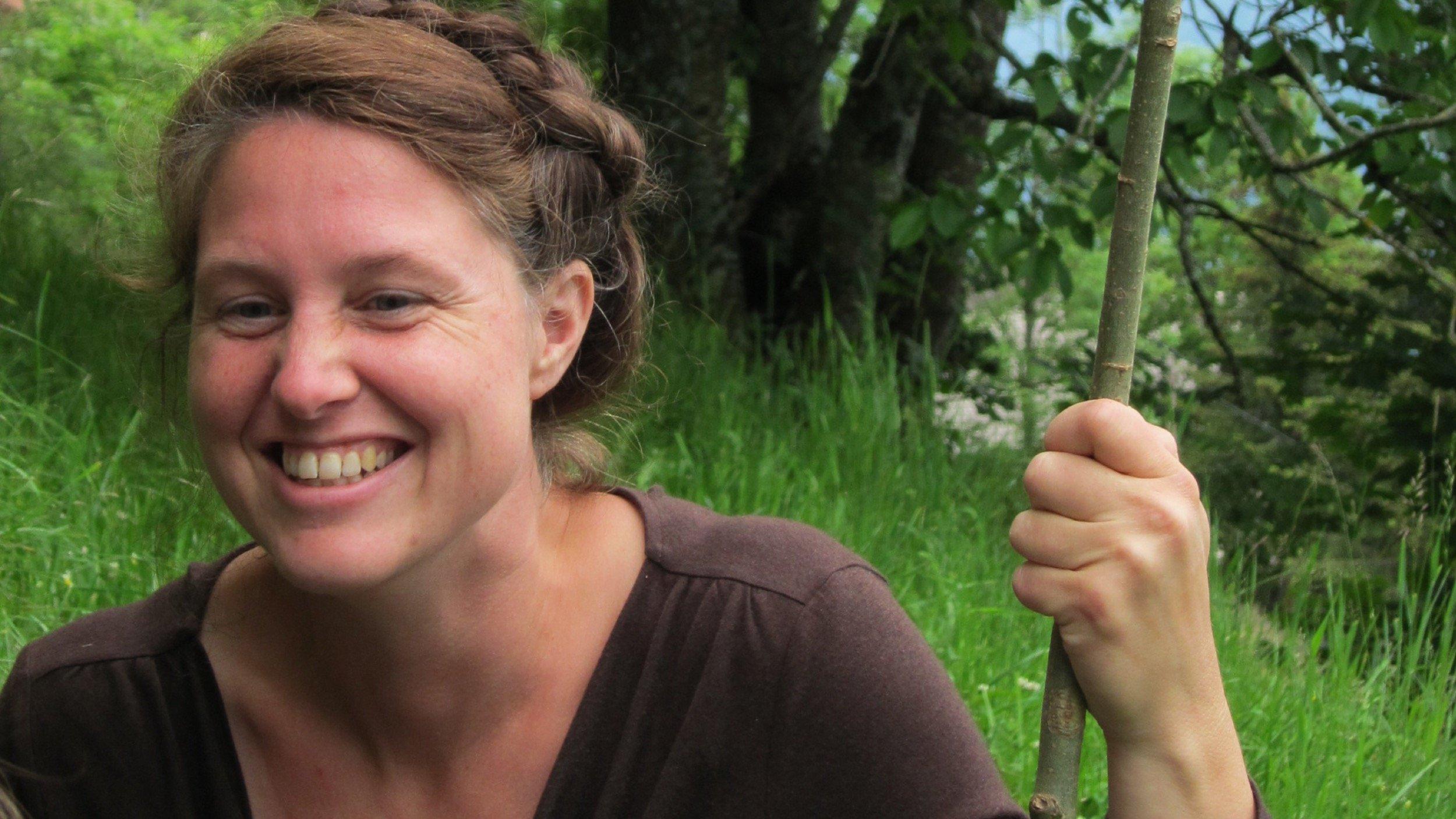 Aufnahme von Anke Jentsch in der Natur.