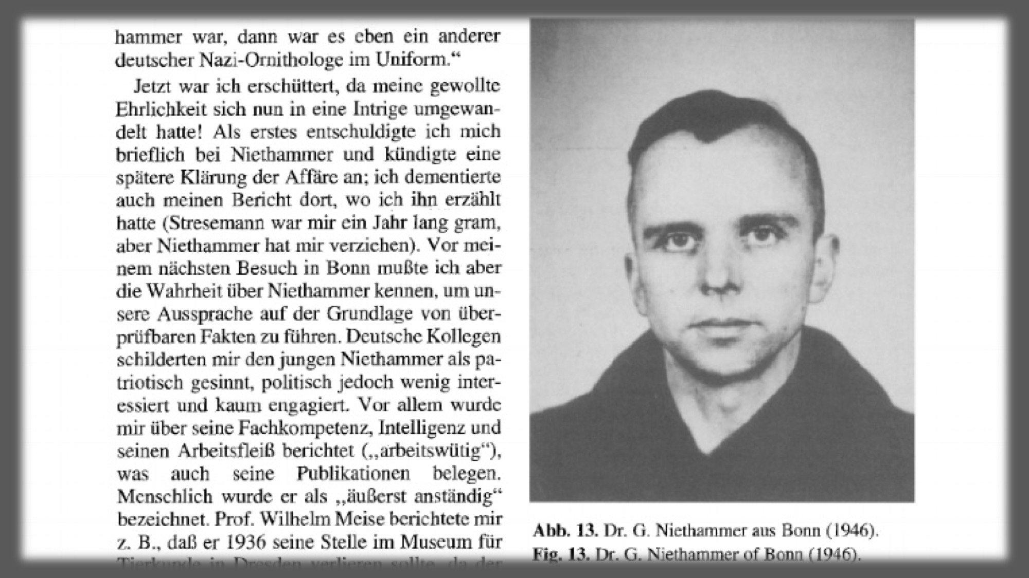 """Auszug aus einem Vortrag von Eugeniusz Nowak mit dem Titel """"Erinnerungen an Ornithologen, die ich kannte"""""""