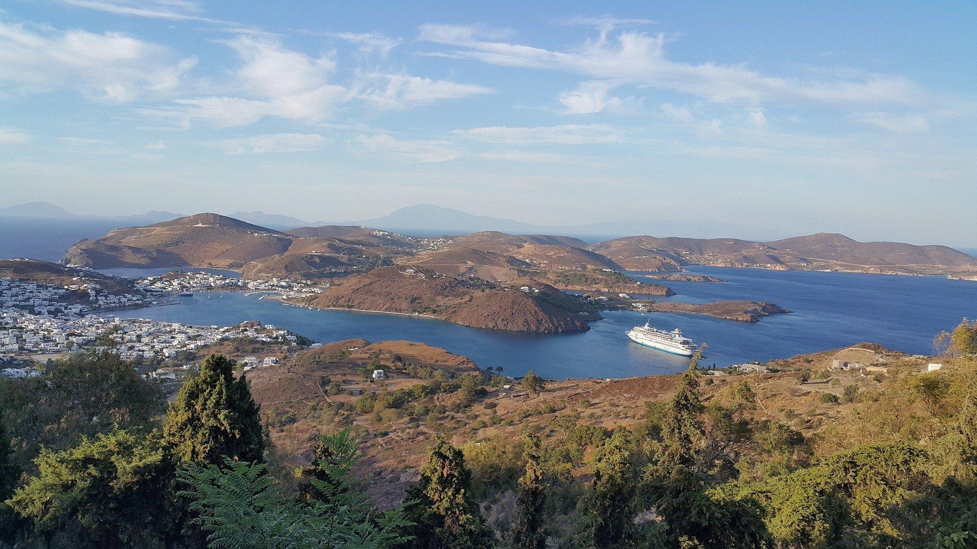 Die griechische Insel Patmos