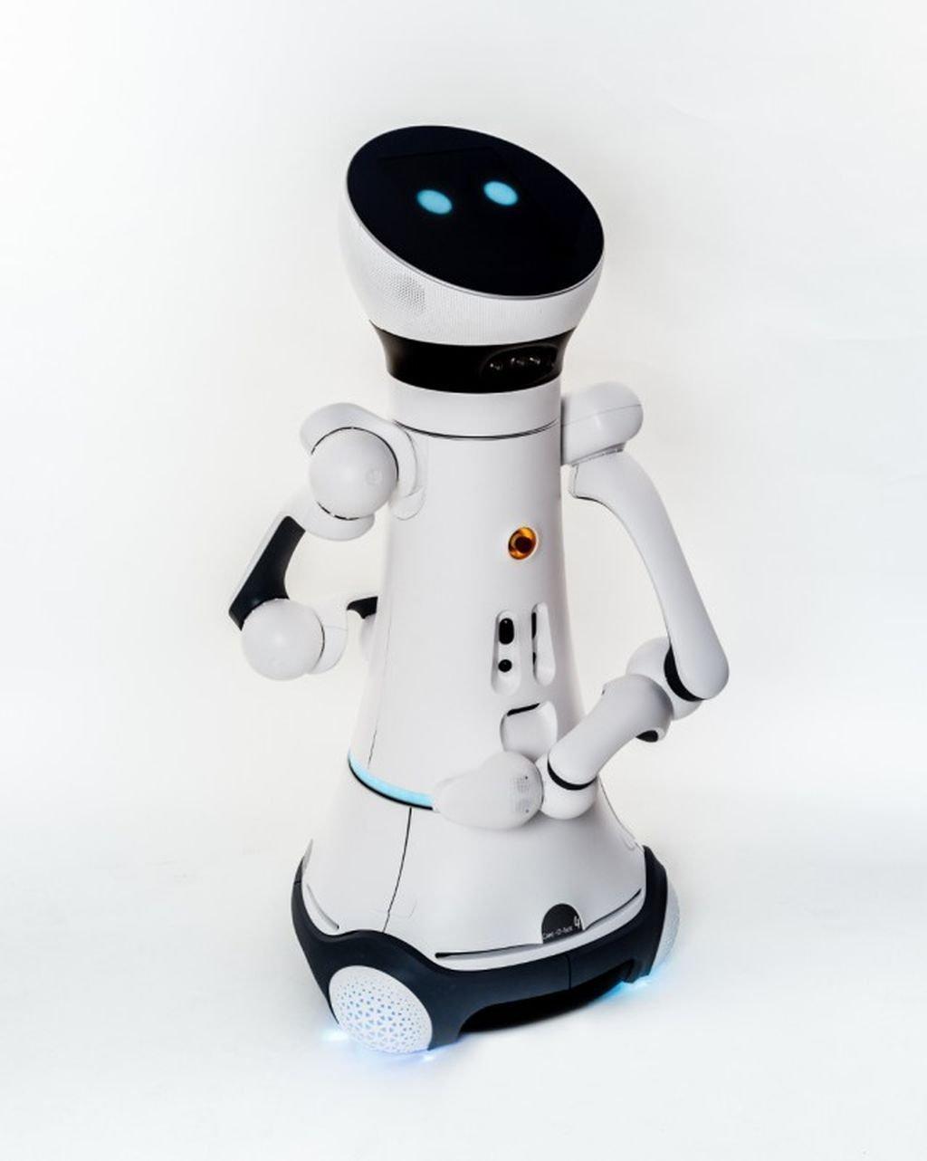 Der Care-O-bot ist ein Pflegeroboter auf Rollen mit angedeutetem Kopf und Armen.