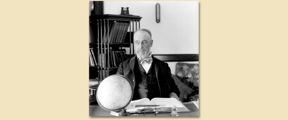 Der große Astronom Asaph Hall.
