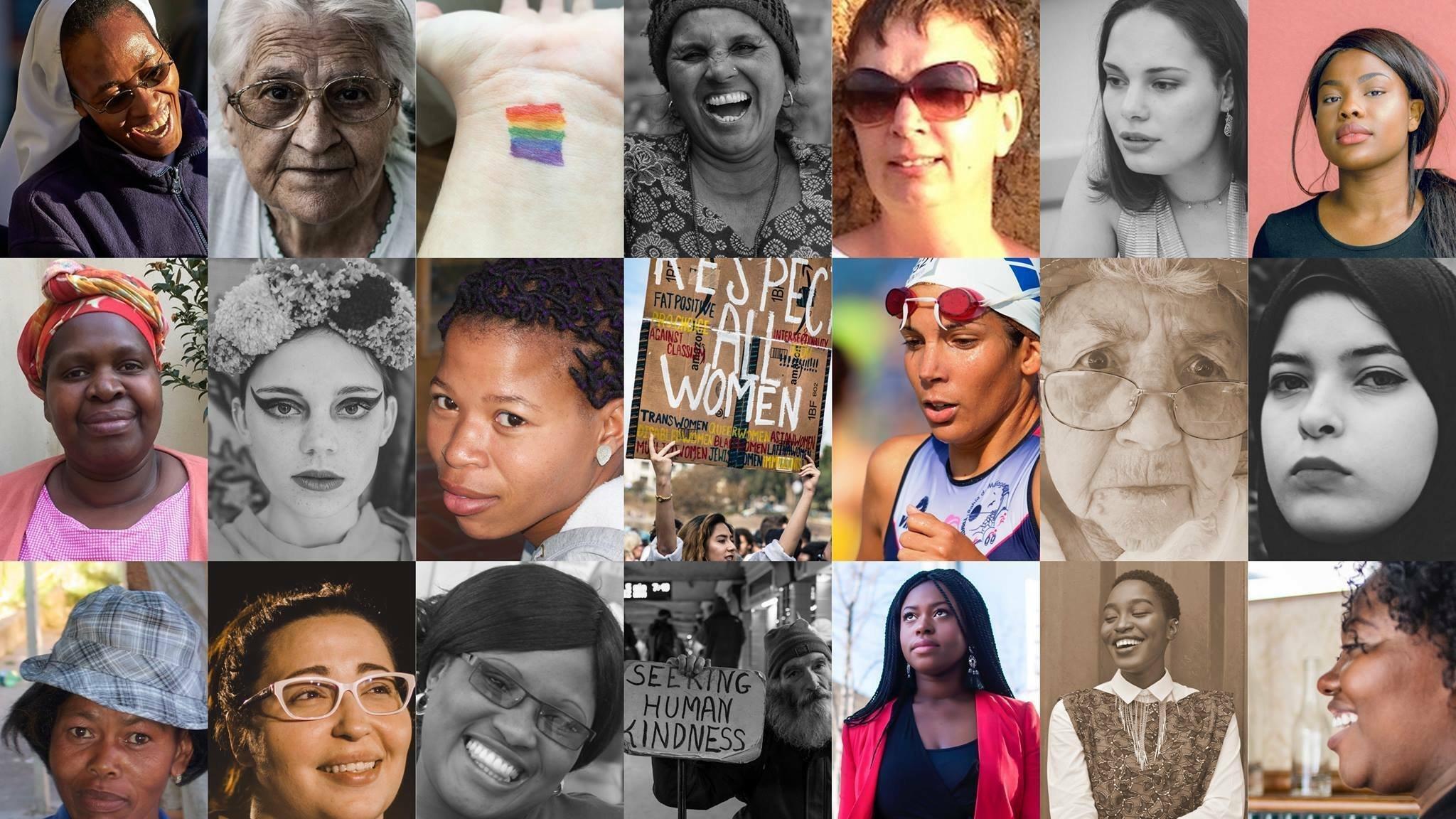 Eine Collage aus mehreren Frauenporträts, allesamt Mitglieder der Initiative Quote This Woman in Südafrika.