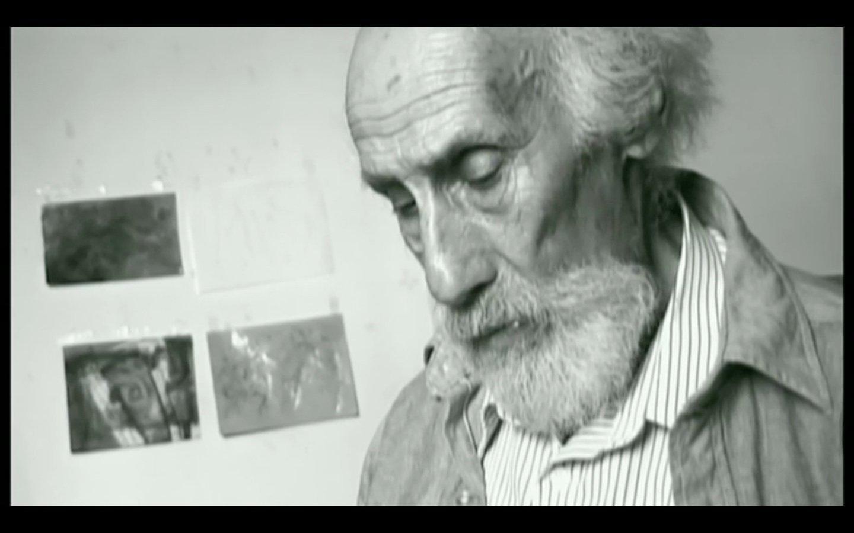 Robert Lax in seinem Haus auf Patmos