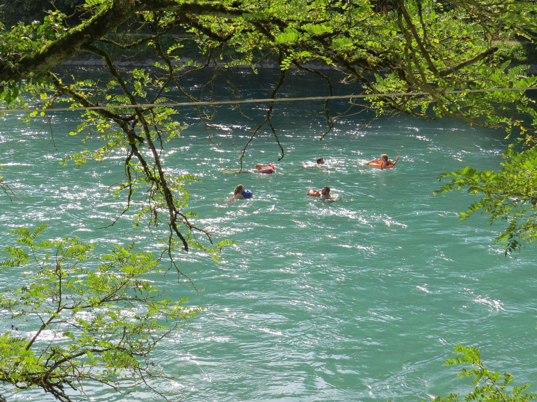 Fluss mit Schwimmenden